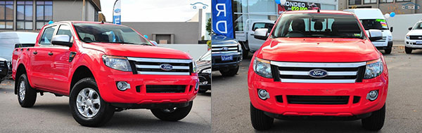 "2015 Ford Ranger XLT in ""true red"""