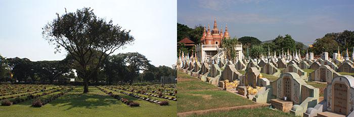 Cemeteries, Kanchanaburi, Thailand