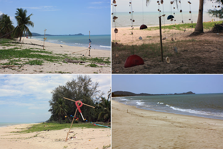 travel, thailand, sichon, beaches, monkeys, coconuts
