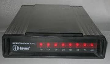 The Cadillac of Modems.  The Hayes 1200bps.