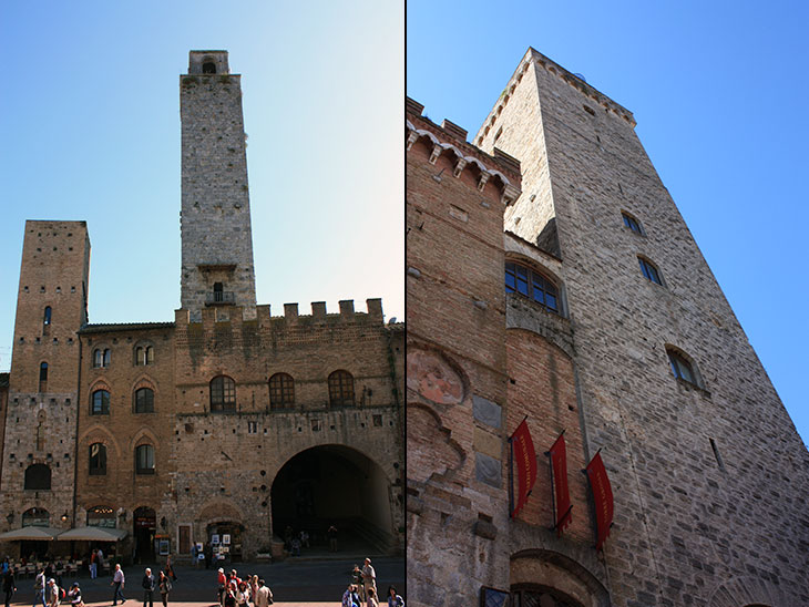travel, italy, tuscany, san gimignano, towers