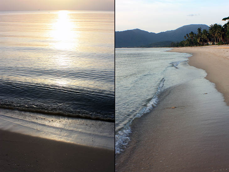 Thailand, Khanom, Beach, Sunrise