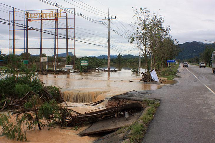 thailand, khanom, flooding