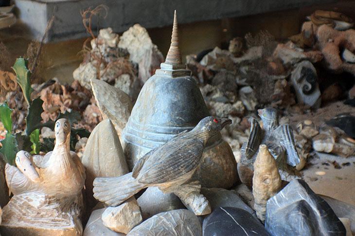 thailand, don sak, fish stone museum