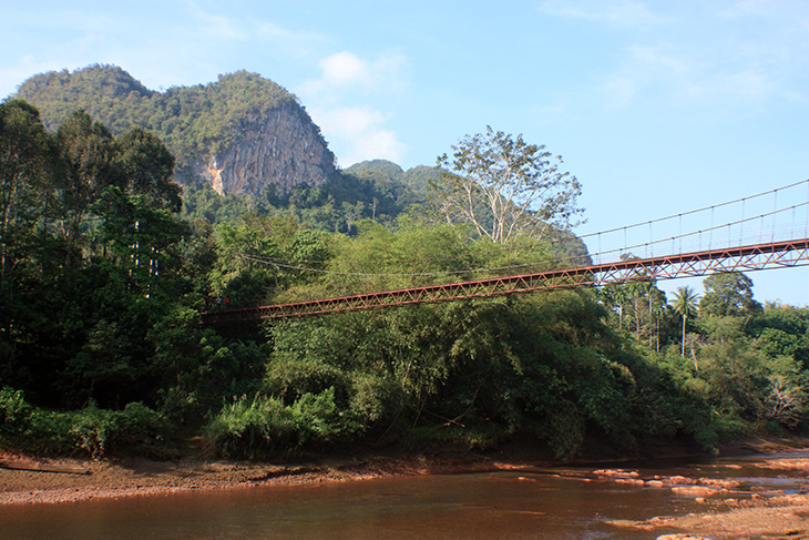 khao pang suspension bridge, surat thani, thailand