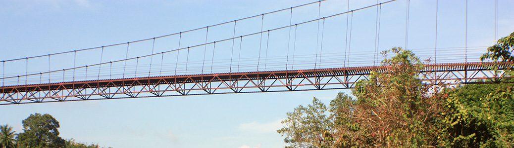 khao pang suspension bridge, surat thani, thailand
