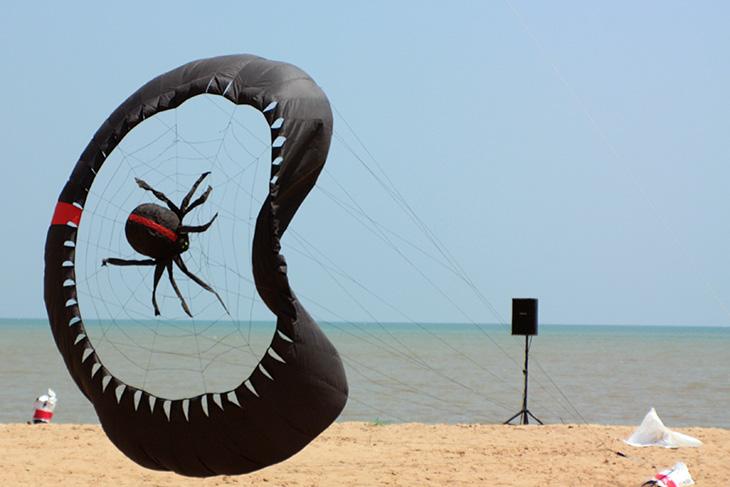 thailand, surat thani, kite festival