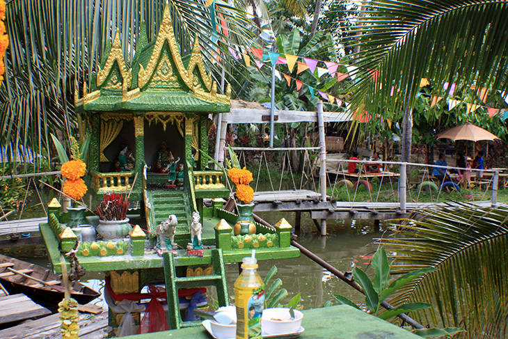 thailand, surat thani, floating market