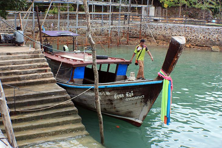 thailand, phang nga, ko yao noi, longtail