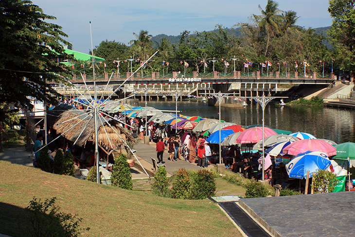 travel, thailand, songkhla, khlong hae floating market