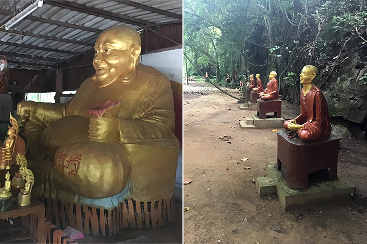 travel, thailand, phang nga, tham ta pan bureau of monks, bizarre, statues