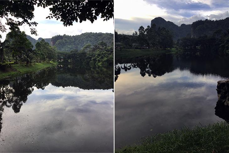 thailand, phang nga, tham sam, caves, lakes