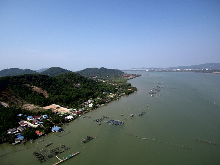 travel, thailand, songkhla, ko yo, aerial, drone