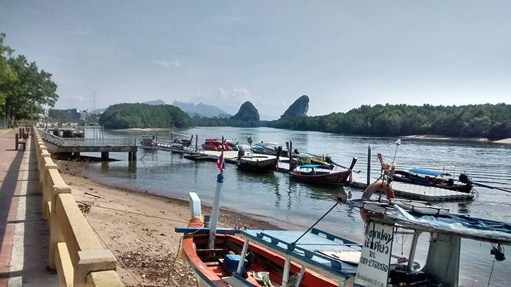 travel, thailand, krabi, riverside
