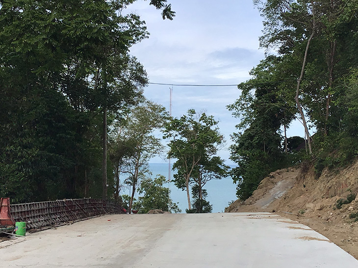 travel, thailand, khanom, khao plai dam, new road