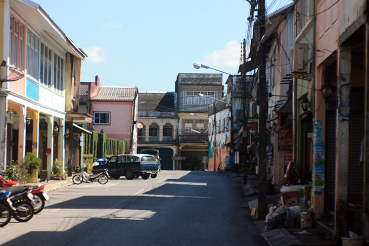 takua pa, old town, phang nga, thailand, travel