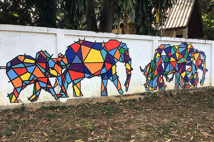 Wang River Street Art, Lampang