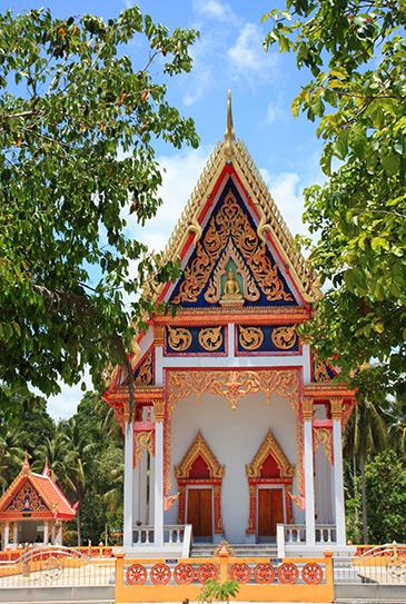 wats, temples, sichon, thailand